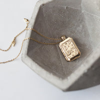 Zalea Locket Gold Necklace - Wanderlust + Co