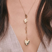 Heart Lock Gold Charm - Wanderlust + Co