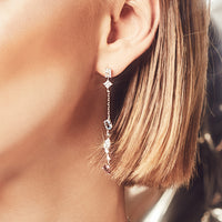 Kaia Stardust Silver Earrings - Wanderlust + Co