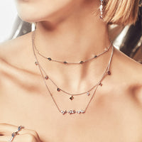 Kaia Stardust Silver Necklace - Wanderlust + Co