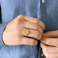 Signet Gold Sterling Silver Ring