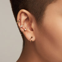 Lumiere Pave Gold Ear Cuff - Wanderlust + Co