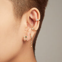 Lumiere Gold Huggie  Earrings - Wanderlust + Co