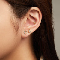 Gem Gold Fan Flat Back Earring - Wanderlust + Co