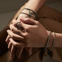 Cara Silver Toggle Bracelet - Wanderlust + Co