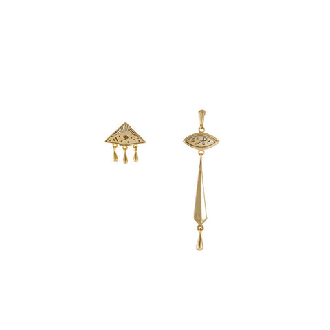Elysia Gold Earrings