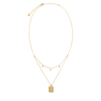 Zalea Locket Gold Necklace
