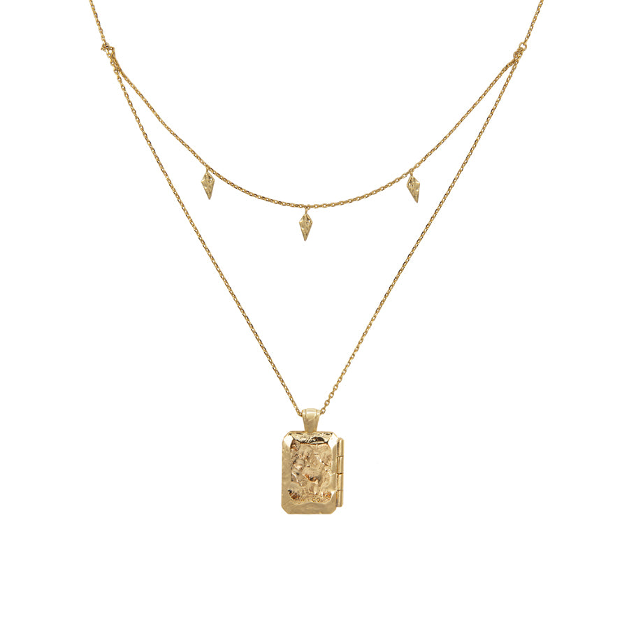 zalea locket gold necklace wanderlust co
