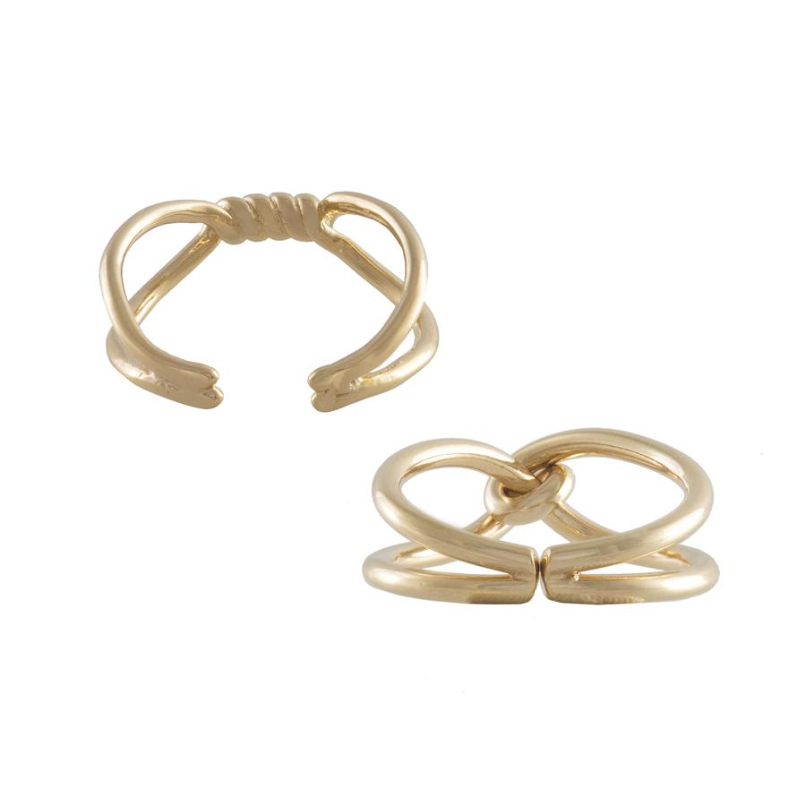 Can-You-Knot Gold Ring Set