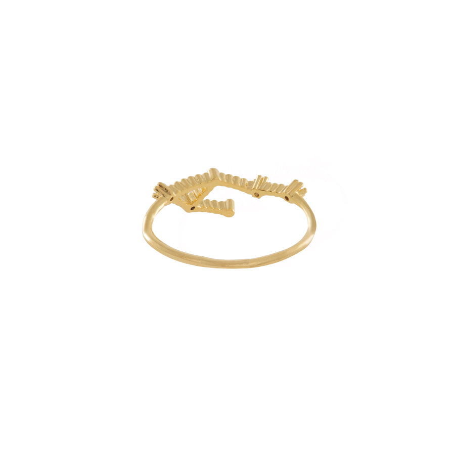 Libra Zodiac Gold Ring