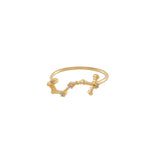 Scorpio Zodiac Gold Ring