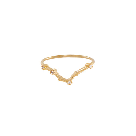 Pisces Zodiac Gold Ring