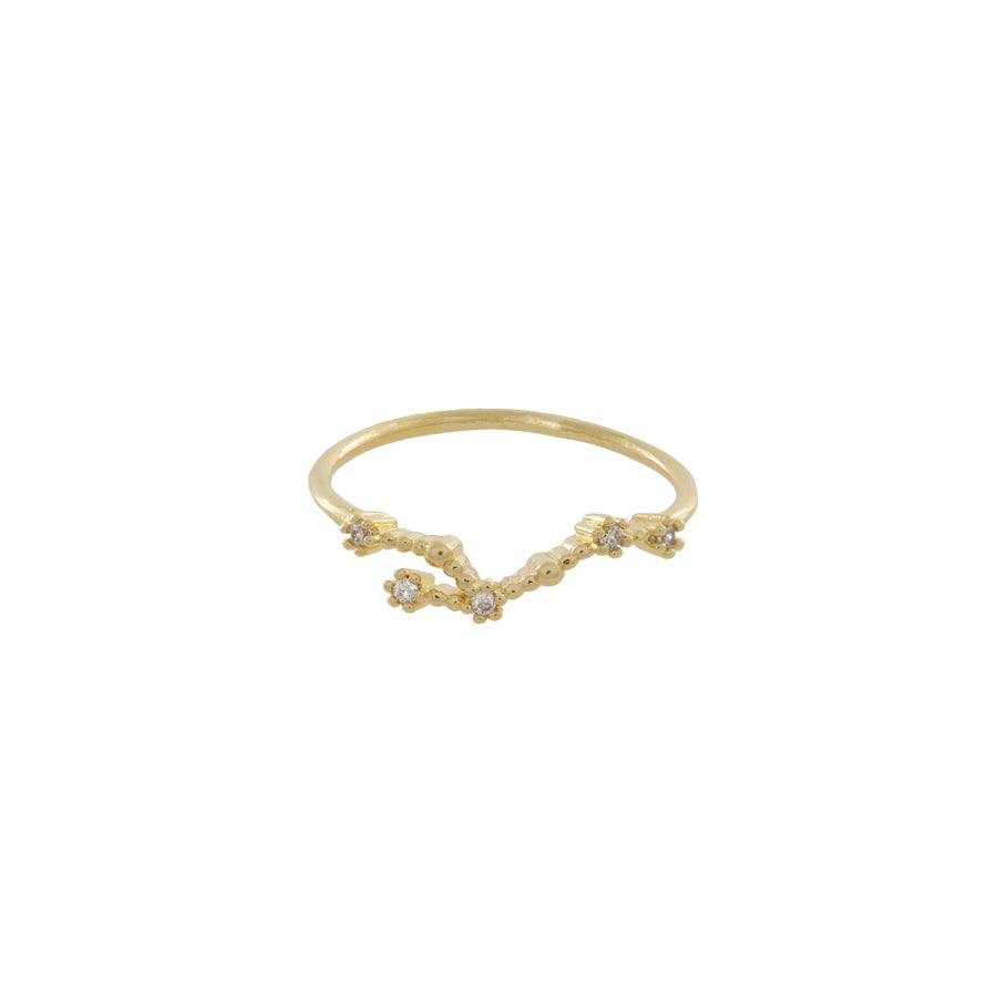 Leo Zodiac Gold Ring