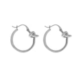 Forget-Me-Knot Silver Hoop Earrings