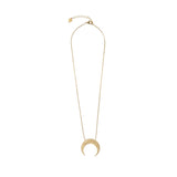 Crescent Pisces Zodiac Gold Necklace