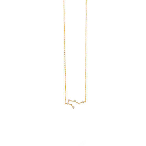 Aquarius Cosmic Gold Necklace