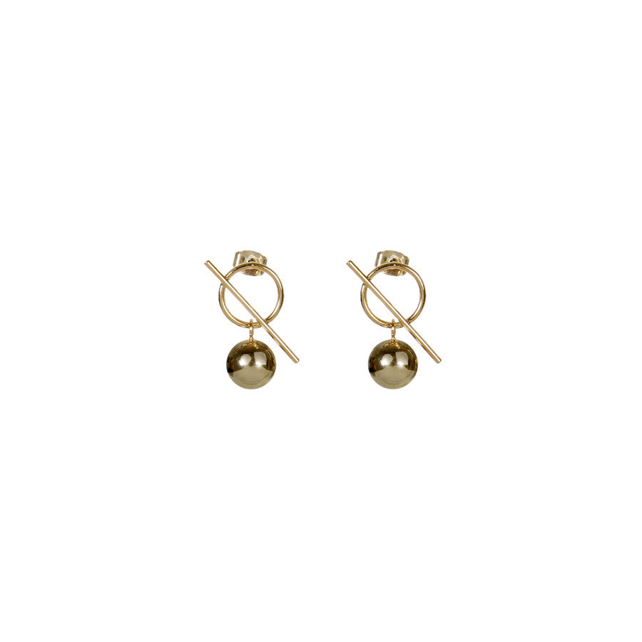 Aura Toggle Gold Earrings