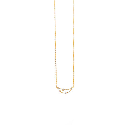 Capricorn Zodiac Gold Necklace