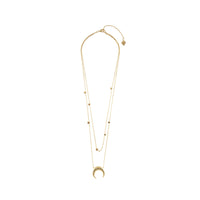 Crescent & Constellation Gold Layered Necklaces