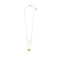Crescent & Star Gold Layered Necklaces