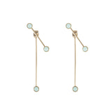 Double Bar & Circle Earrings
