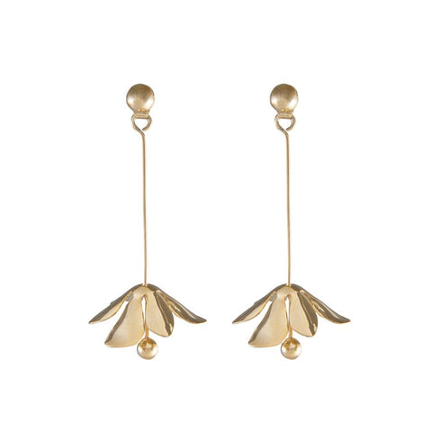 Capri Drop Gold Earrings