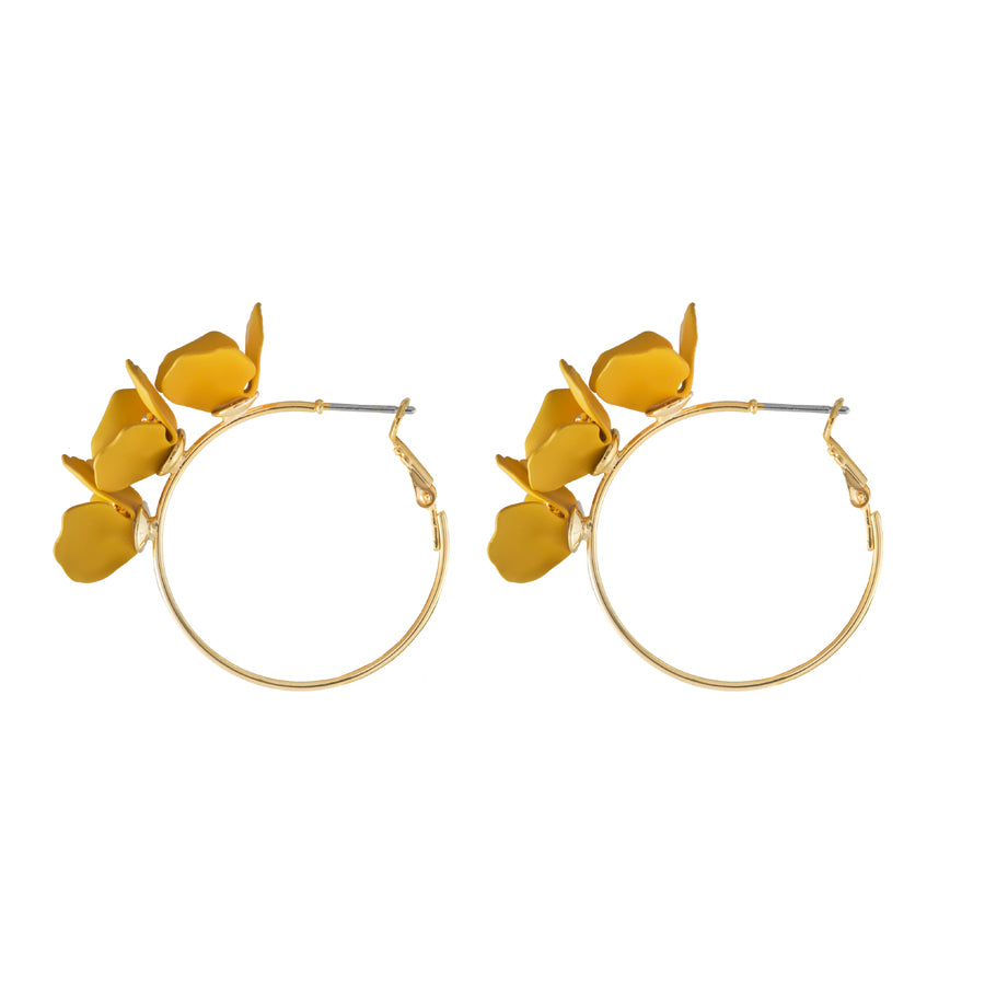 Meadow Hoop Yellow Earrings