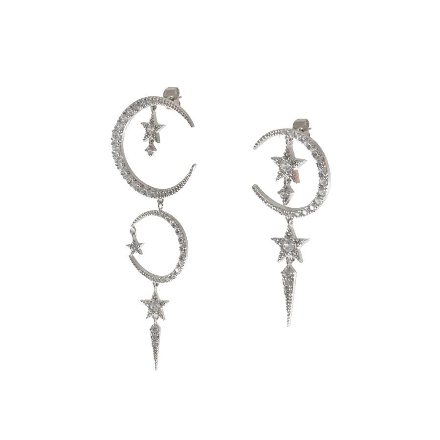 Cosmic Dust Silver Earrings