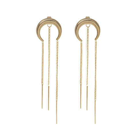 Lunette Chain Gold Earrings