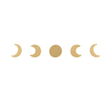 Moon Phase Gold Earrings Set
