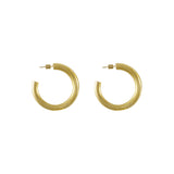 Faye Midi Gold Hoop Earrings