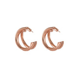 Faye Rose Gold Tri-Hoop Earrings