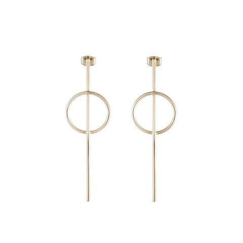 Full Circle Gold Earrings