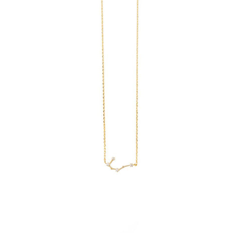 Gemini Zodiac Gold Necklace