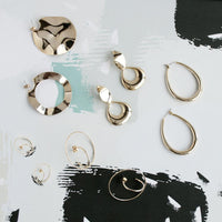 Sonar Mini Hoop Gold Earrings