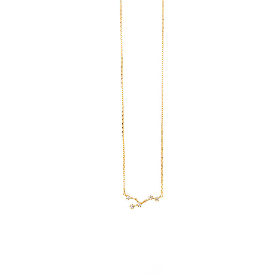 Leo Zodiac Gold Necklace Wanderlust Co
