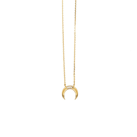 Luna Pave Gold Necklace