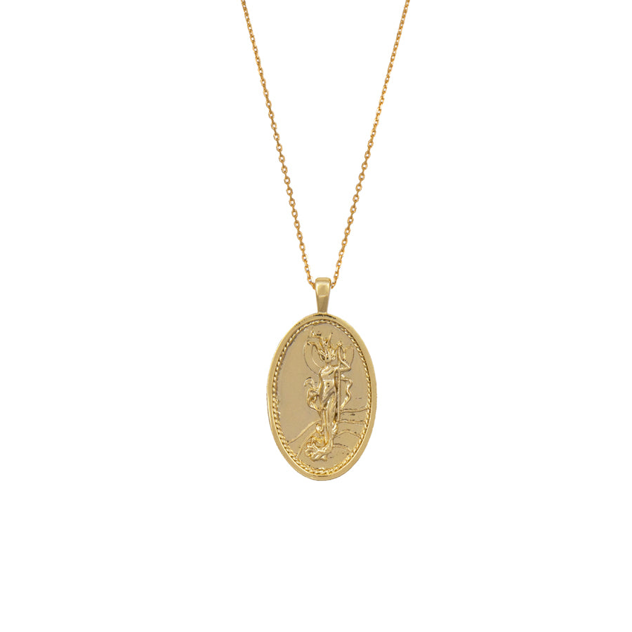 Iris Goddess Gold Necklace