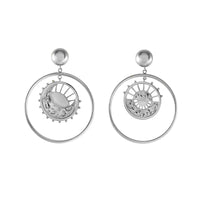Dawning of a New Day Hoop Silver Earrings