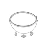 Galaxy Charms Silver Bangle