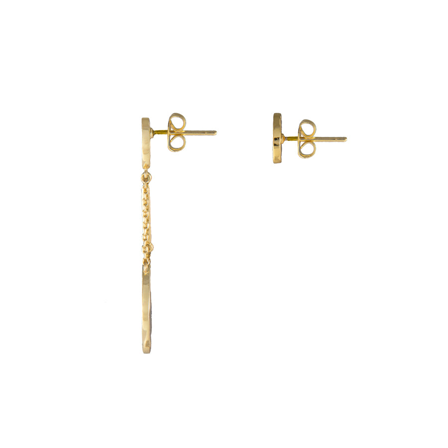 Out of this World Gold Earrings