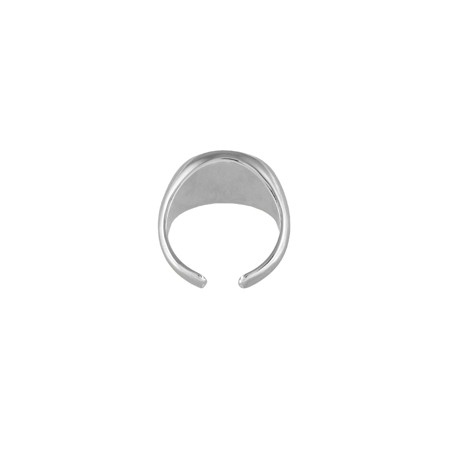 Orbit Signet Silver Ring