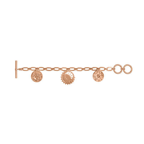 Out of this World Toggle Rose Gold Bracelet