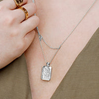 Zalea Locket Silver Necklace - Wanderlust + Co