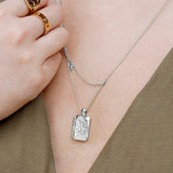 Zalea Locket Silver Necklace