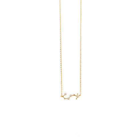 Scorpio Zodiac Gold Necklace