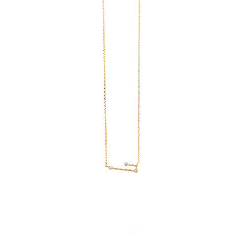 Taurus Zodiac Gold Necklace