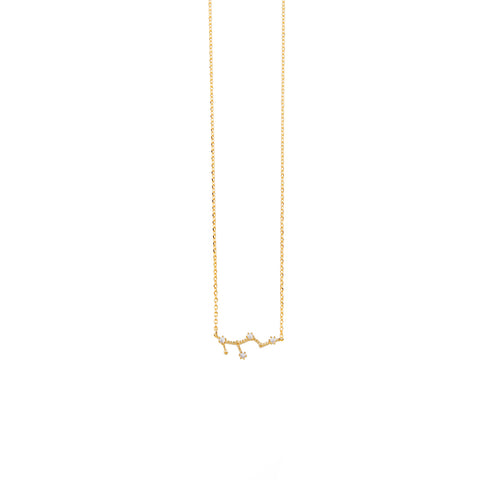 Virgo Zodiac Gold Necklace