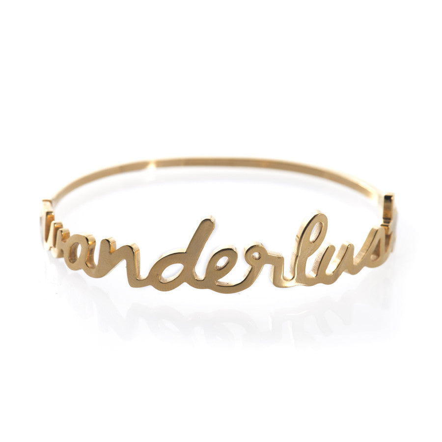Wanderlust Gold Bangle - Wanderlust + Co