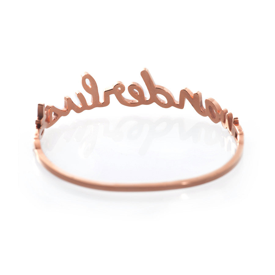 Wanderlust Rose Gold Bangle - Wanderlust + Co